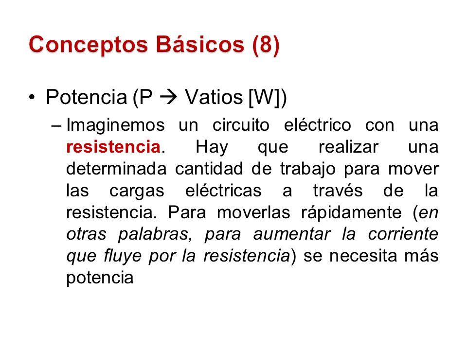 Conceptos Básicos (8) Potencia (P  Vatios [W])
